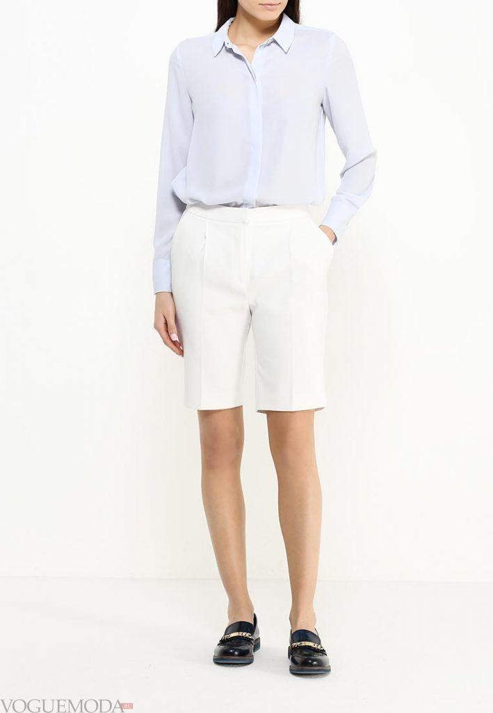 удлиненные шорты белые