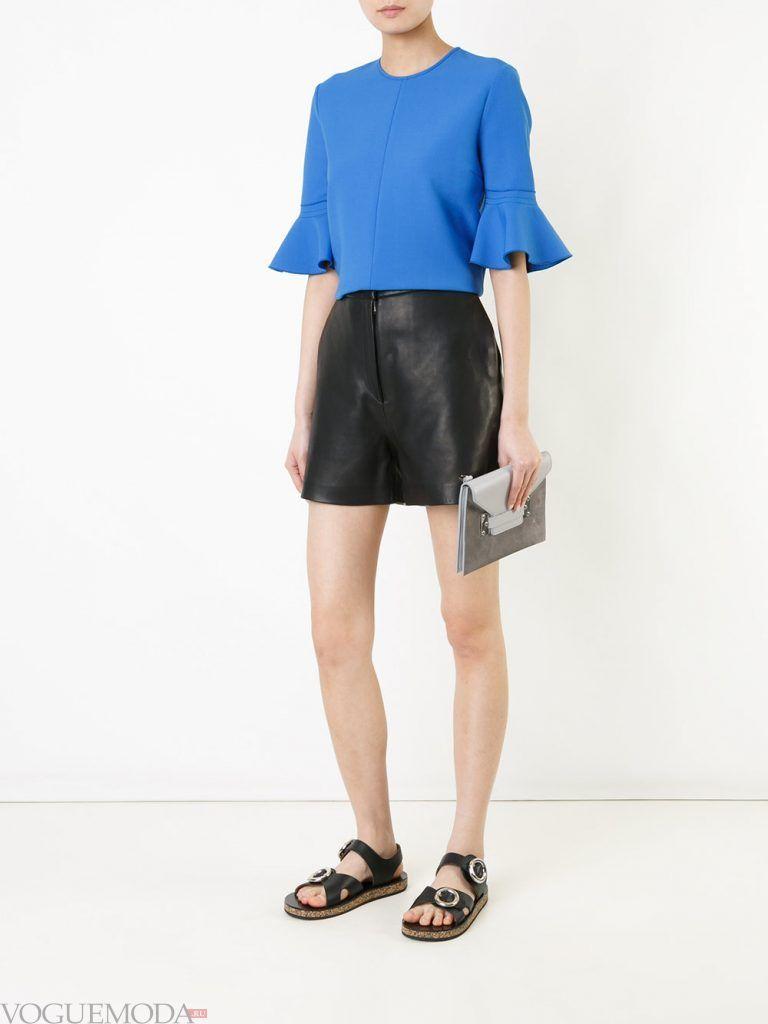 кожаные шорты короткие
