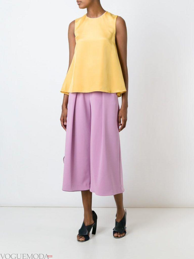 шорты кюлоты фиолетовые