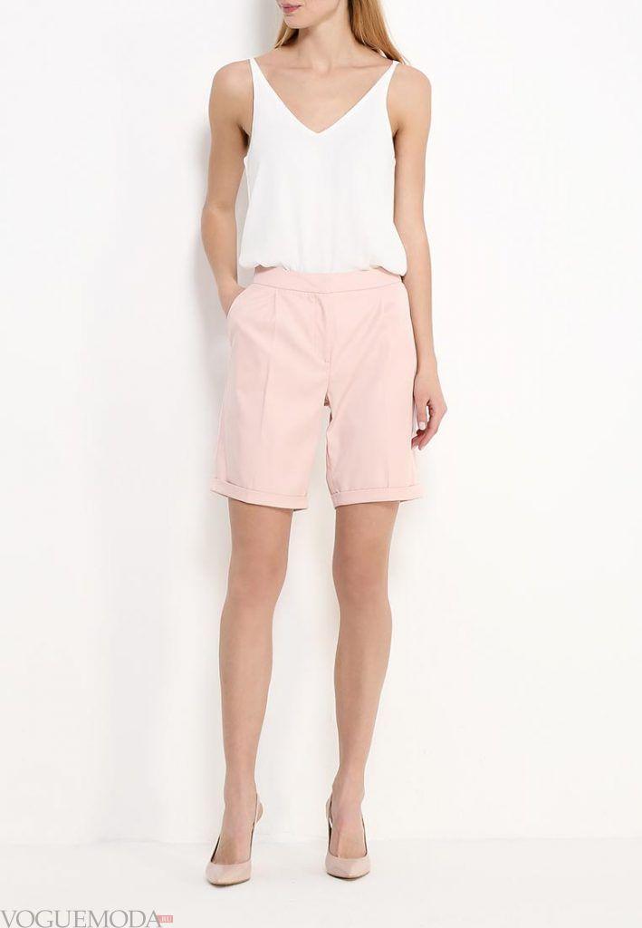модные шорты розовые