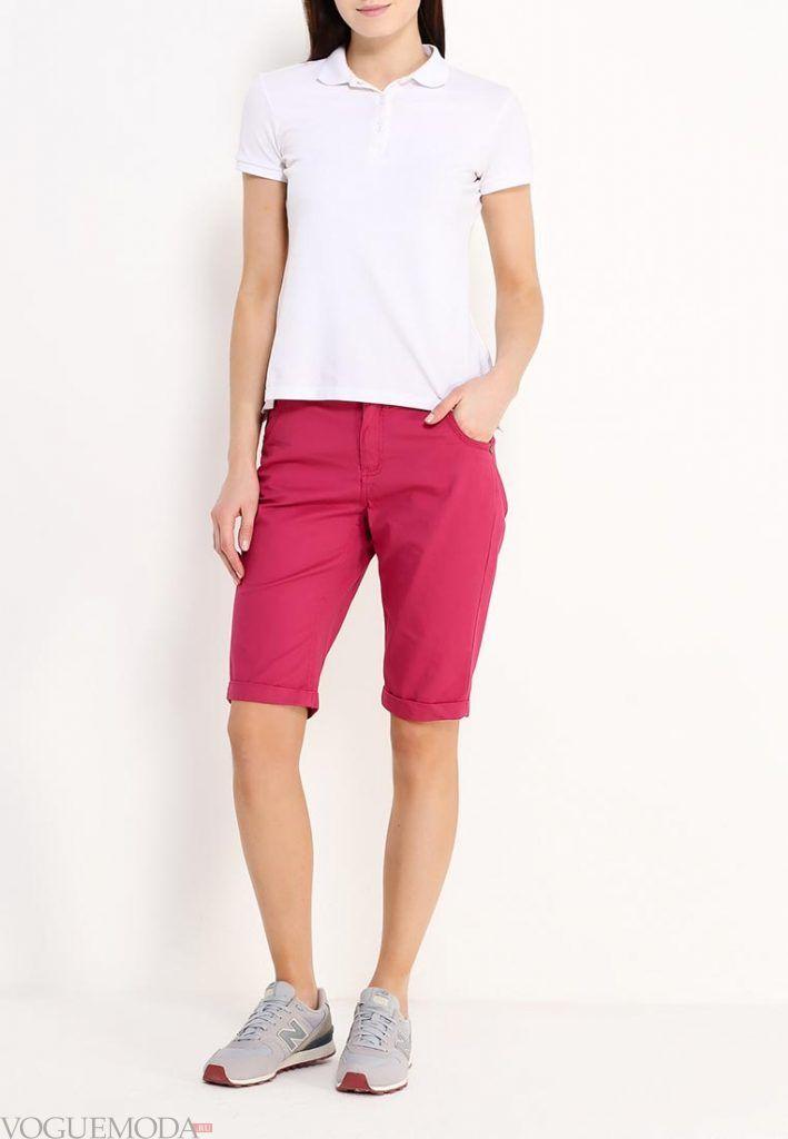 модные шорты красные