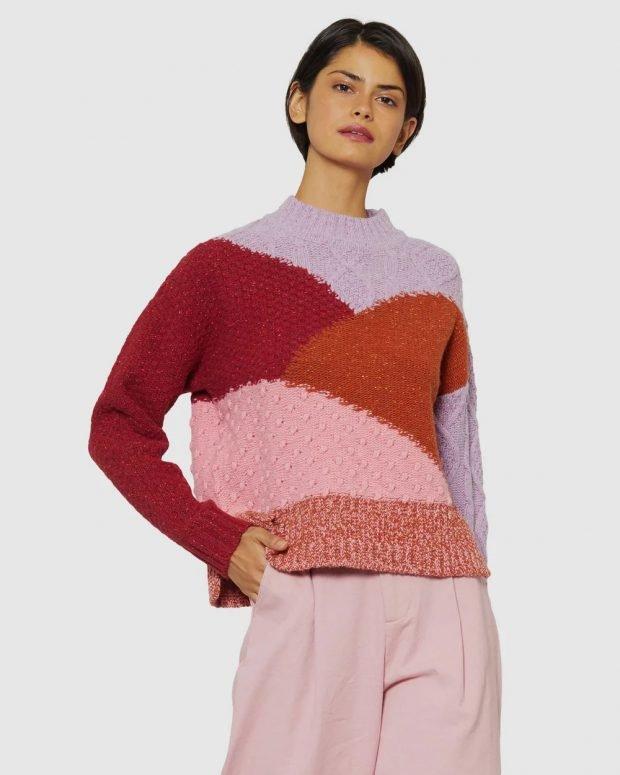 модные свитера: геометрические узоры