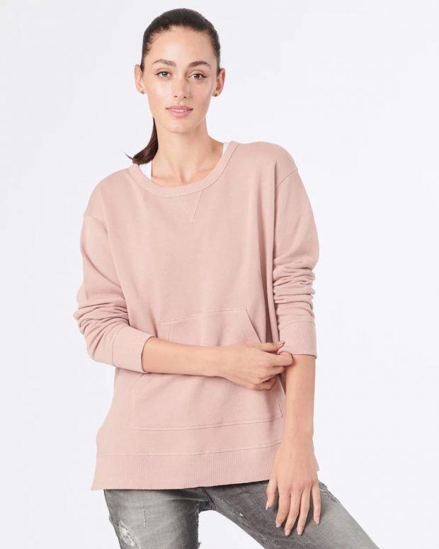 розовый удлиненный