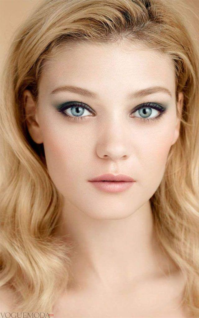 макияж естественных бровей модный в тон волосам