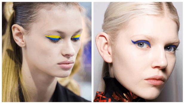 макияж глаз четкие линии разных цветов