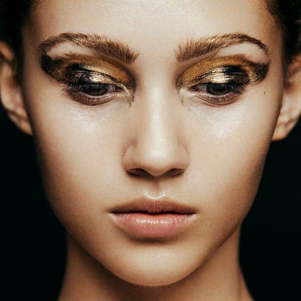 макияж глаз crazy smoky золотой