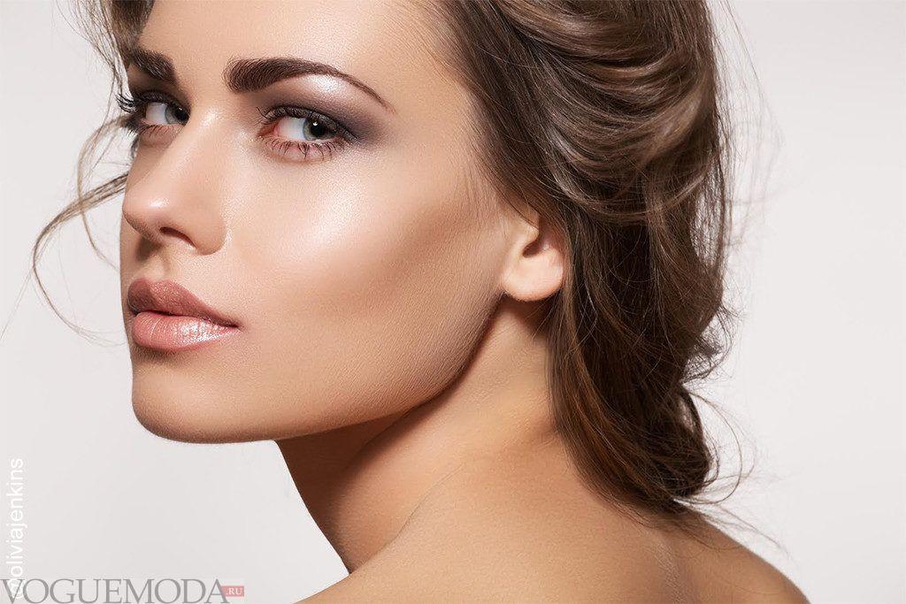 естественный осенний макияж для шатенок