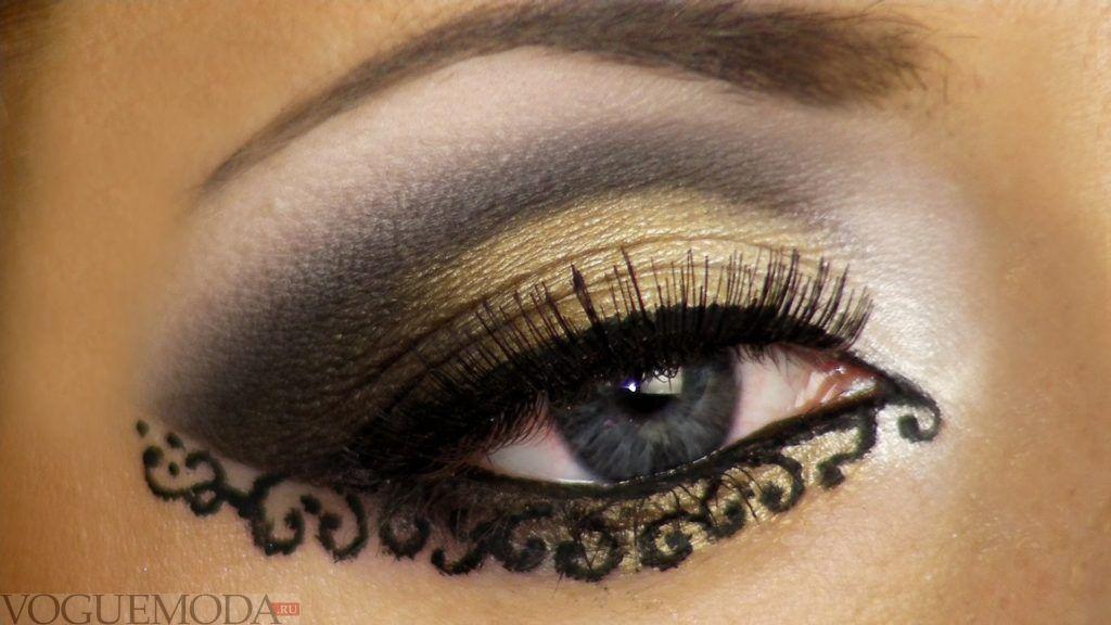 макияж глаз crazy smoky с рисунком