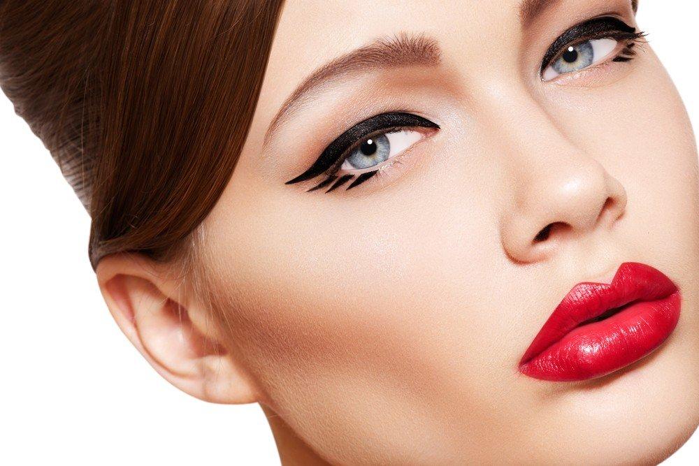 макияж глаз четкие несколько линий