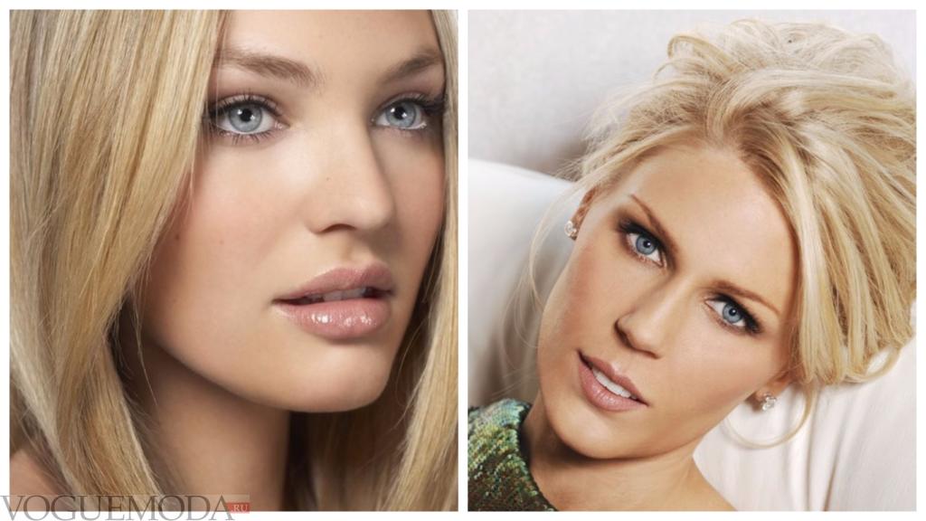 макияж губ прозрачный блеск для блондинок