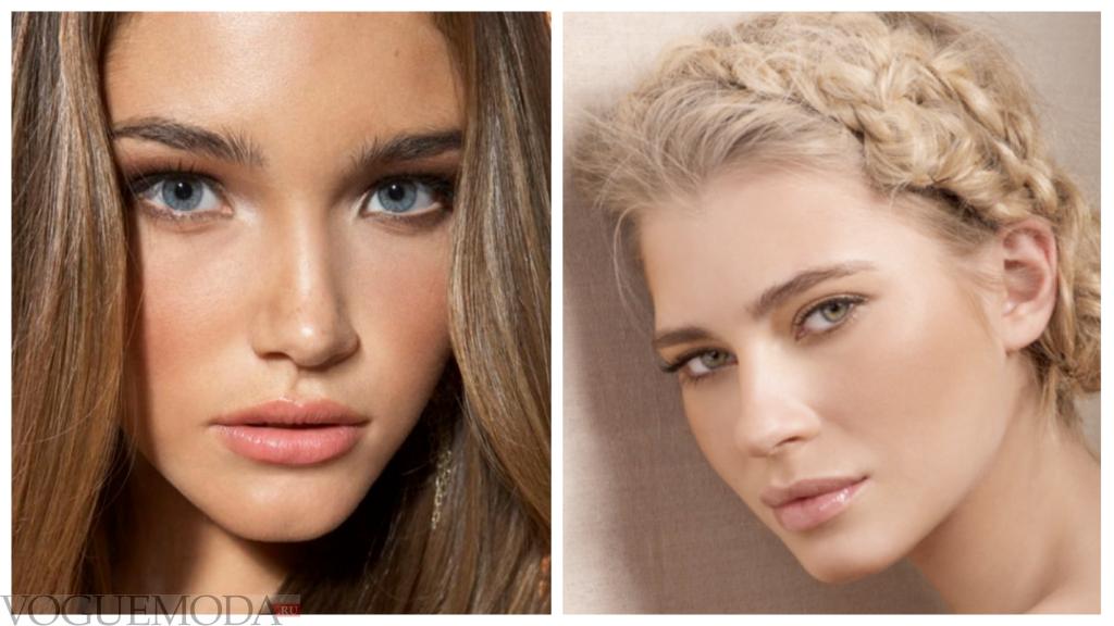 макияж губ прозрачный блеск разный