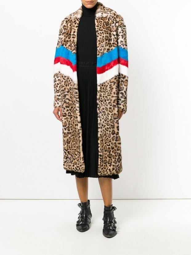 пальто с полосками