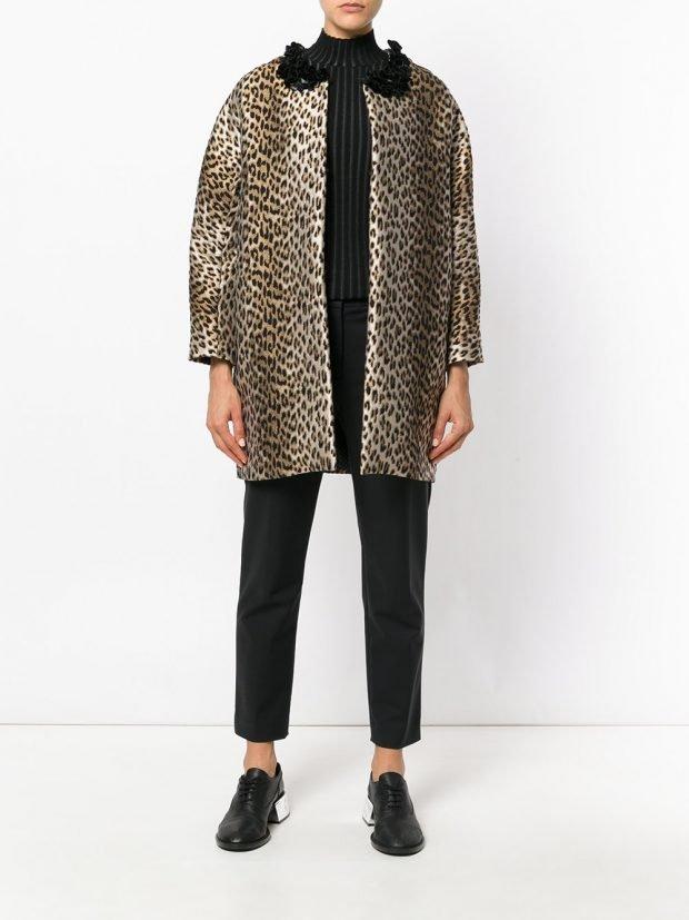 модное пальто леопардовое