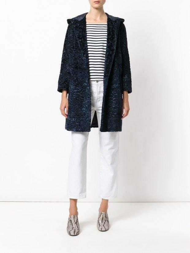 модное пальто фактурное