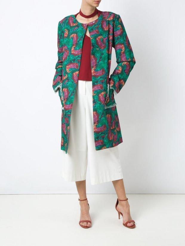 модное пальто цветное