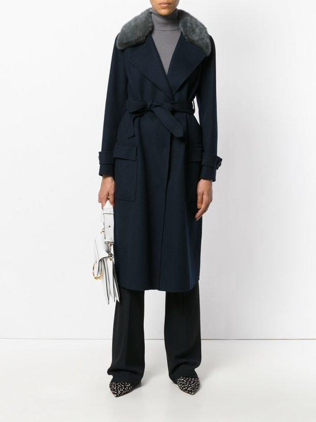 модное пальто 2020 с поясом