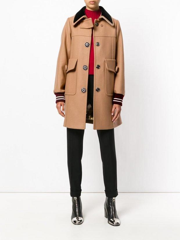 модное пальто 2020 бежевое