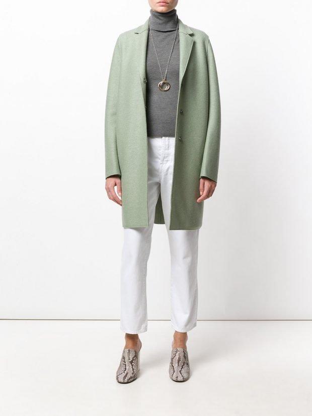 модное пальто мятное 2020 2021