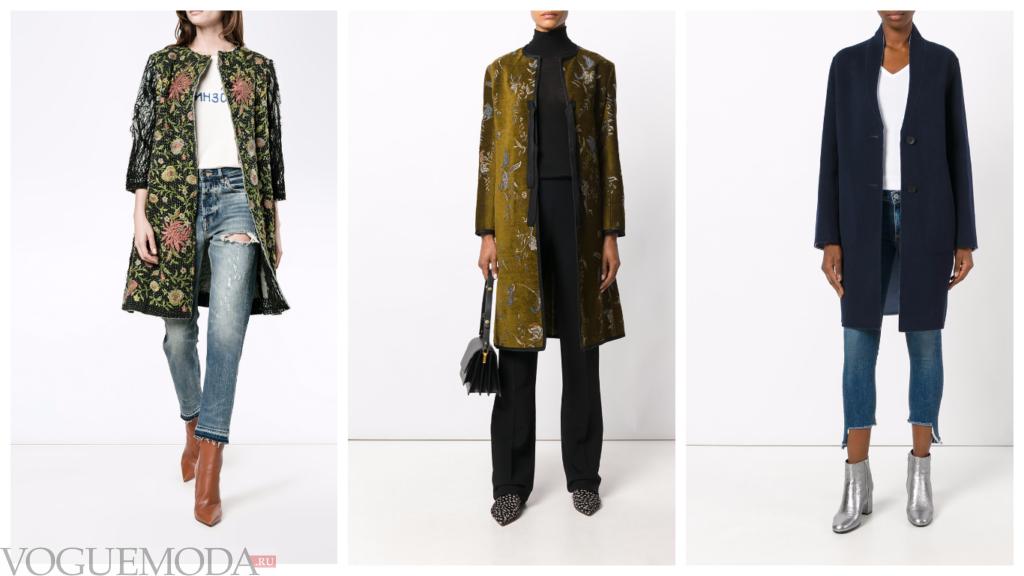 модные пальто разные