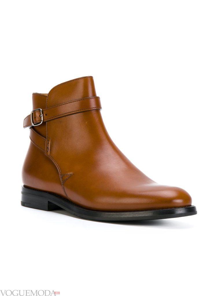 рыжие ботинки без каблука модные