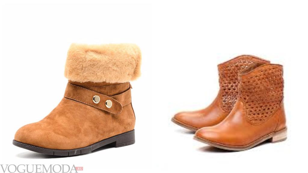 модные рыжие ботинки разные