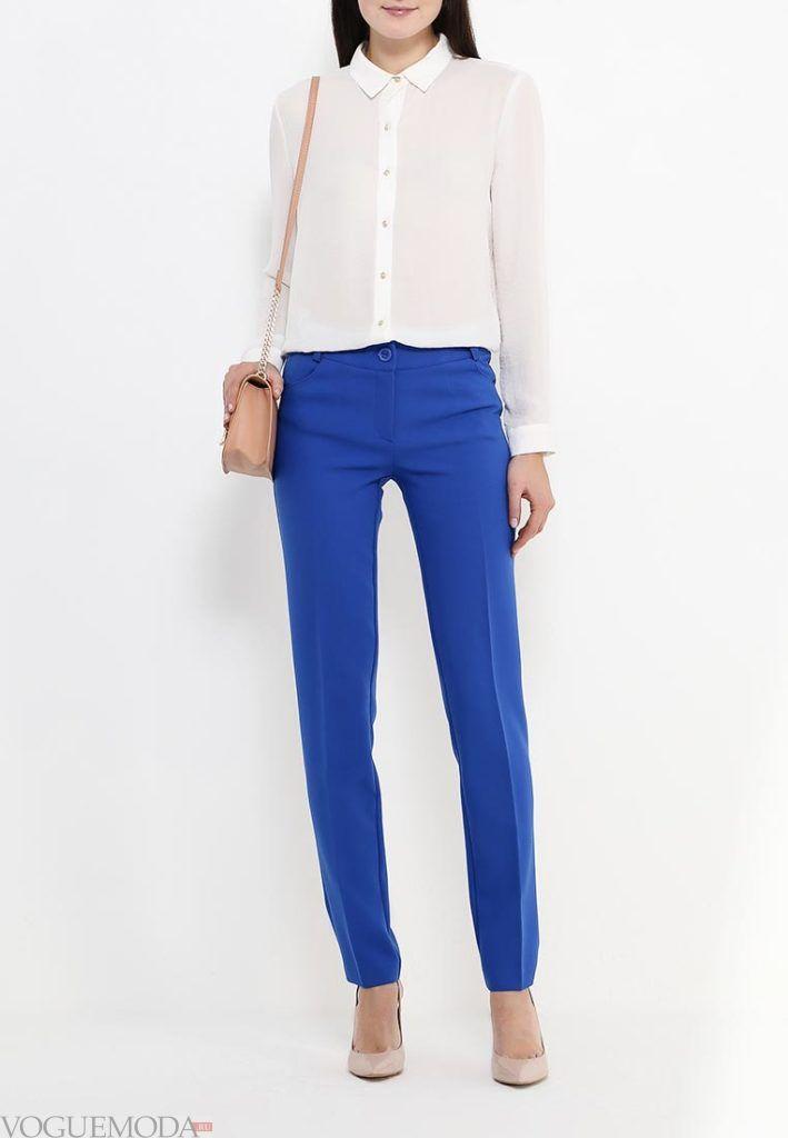 классические брюки с блузой
