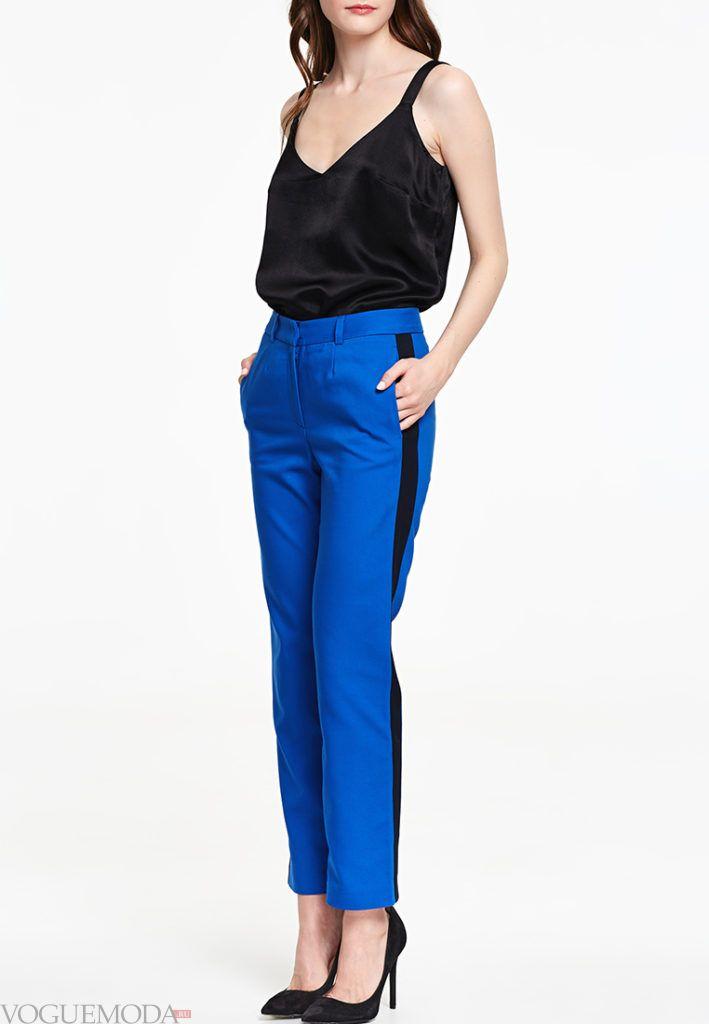 классические брюки с полоской