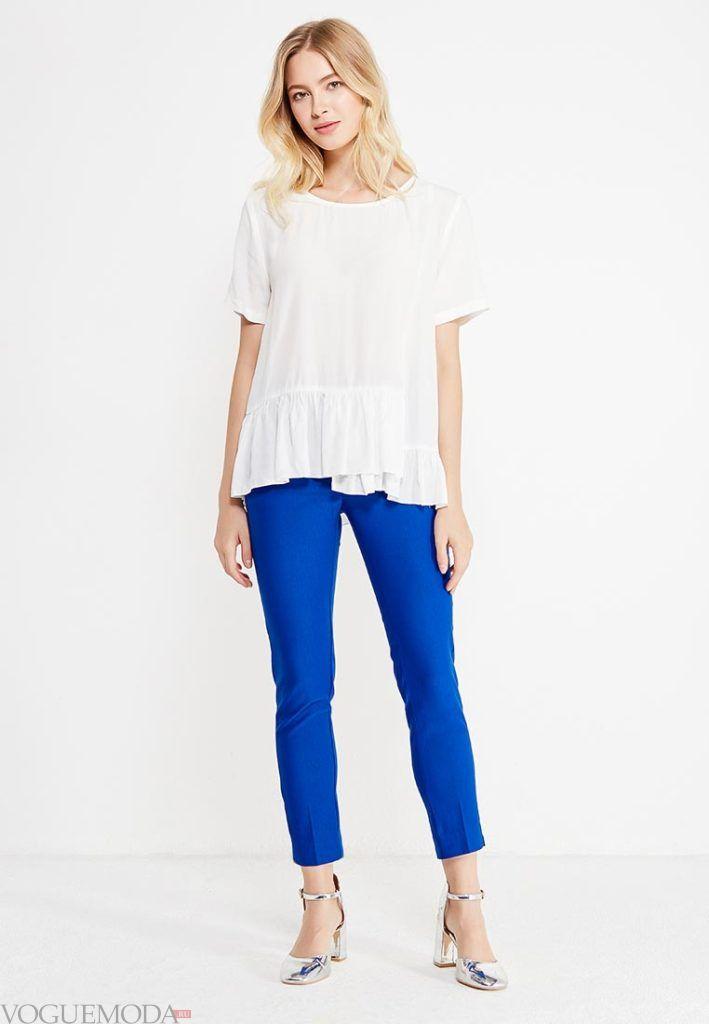 классические брюки с белой блузой