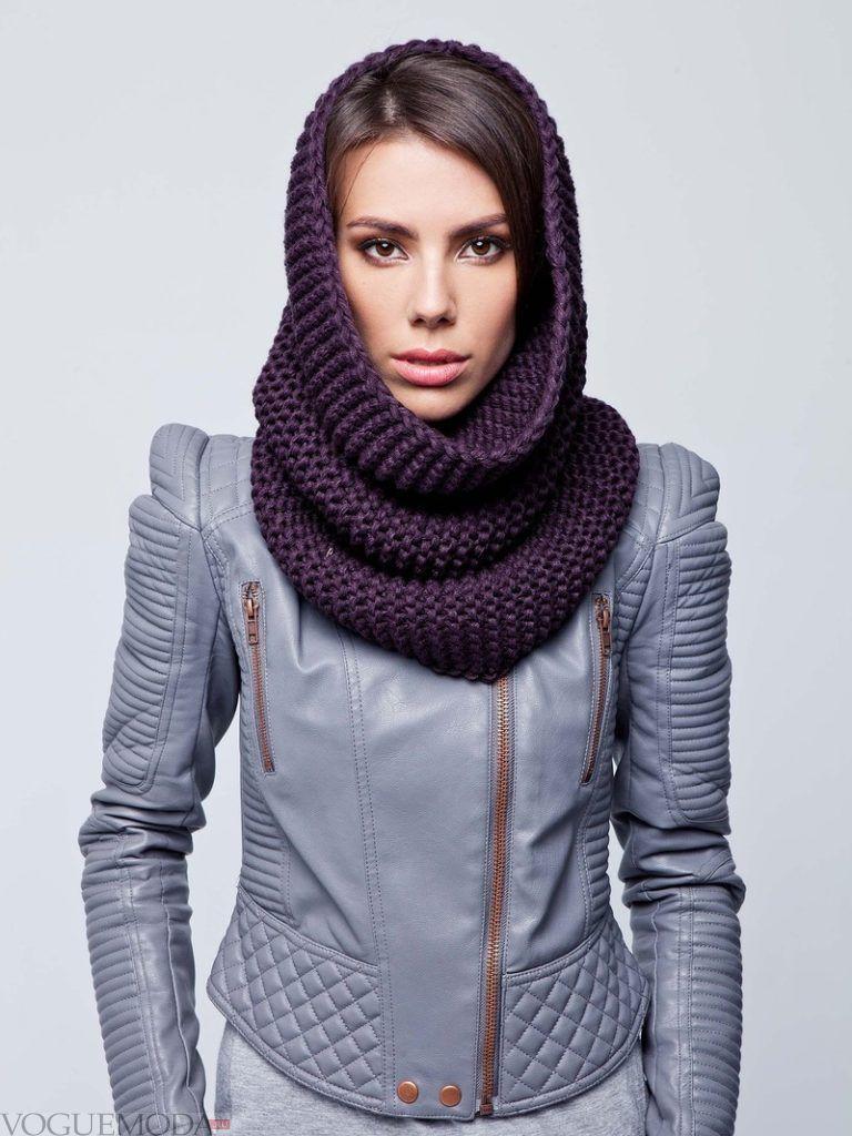 шарф снуд темный