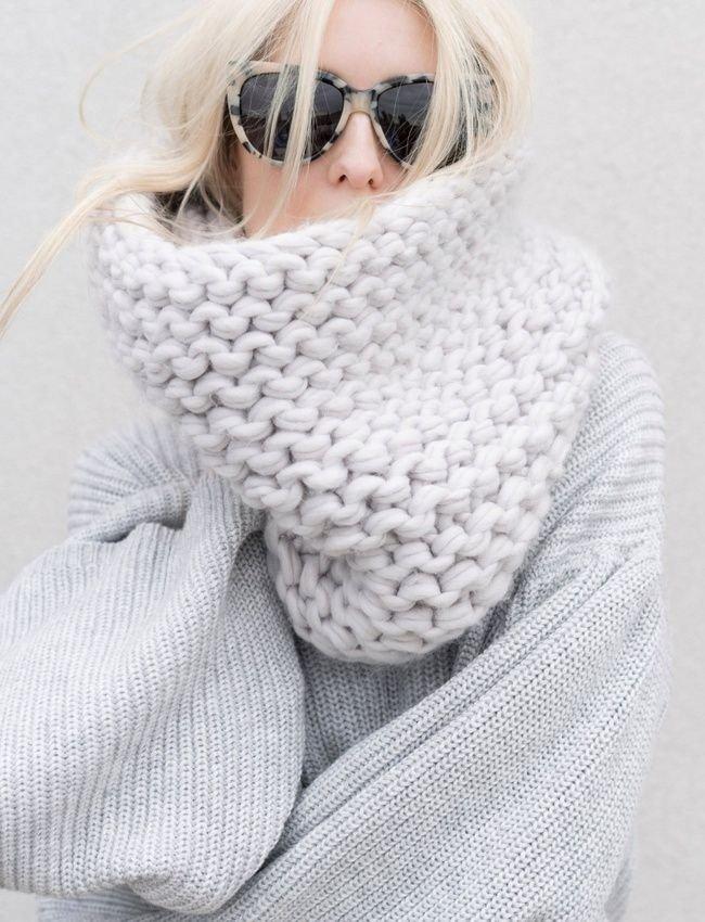 шарф снуд белый