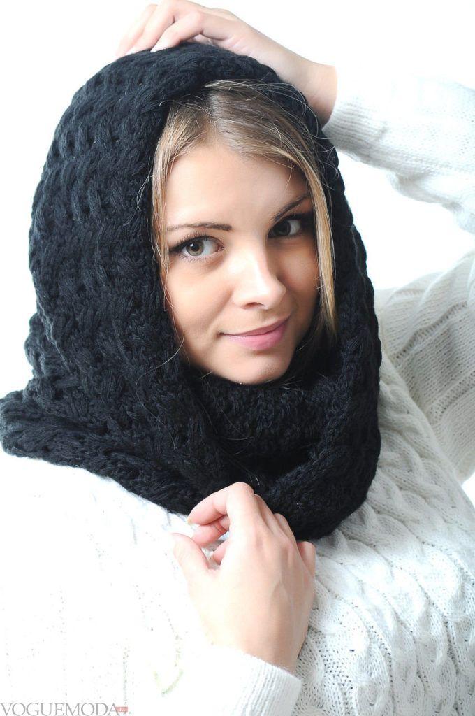 шарф снуд черный