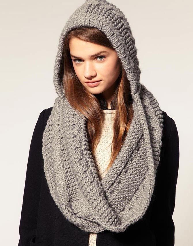 шарф снуд вязаный