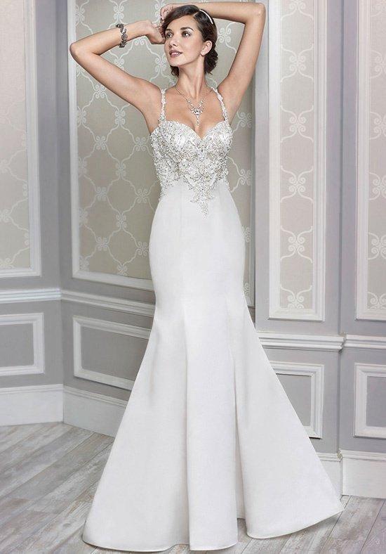 свадебное платье-русалка белое