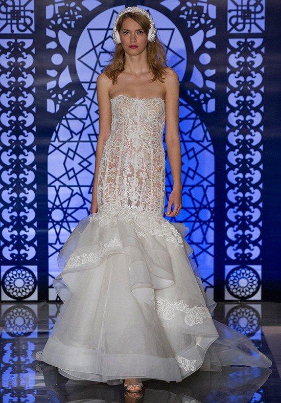 свадебное платье с кружевом длинное