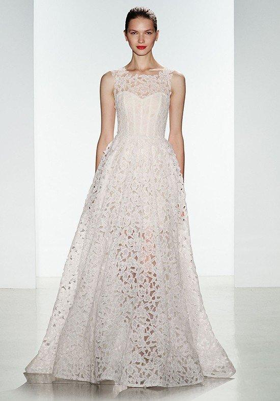 свадебное платье с кружевом прозрачное