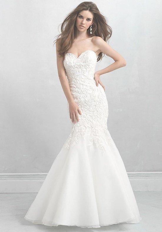 свадебное платье-русалка бюстье