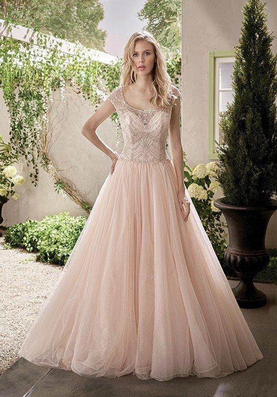 фото свадебных платьев: цветное пышное