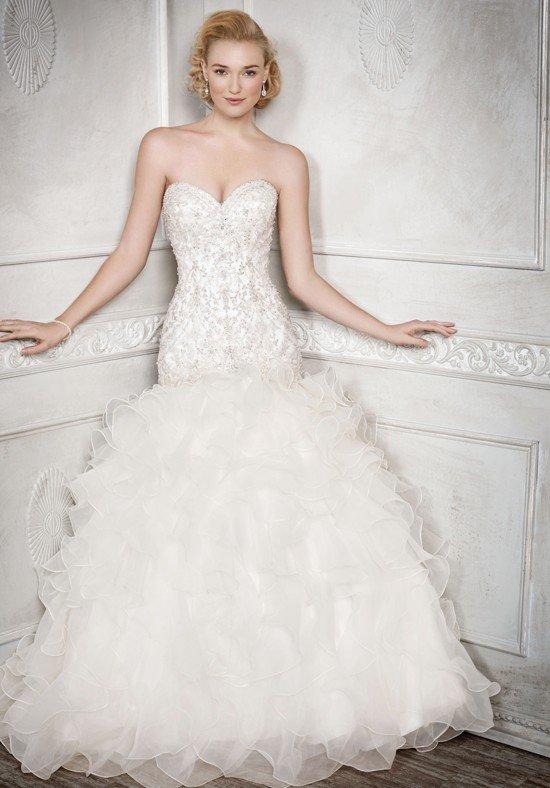 свадебное платье-русалка многослойное