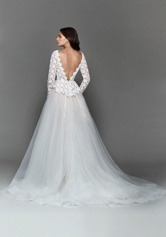 свадебное платье с открытой спиной белое