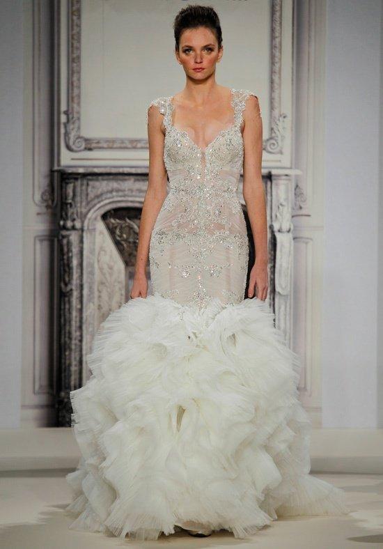 свадебное платье-русалка с декором