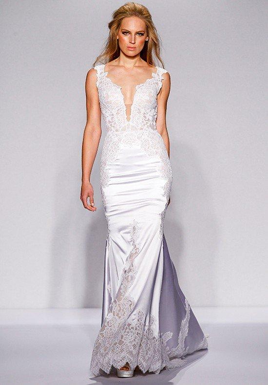 свадебное платье-русалка шелковое