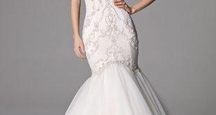 свадебное платье-русалка с кружевом