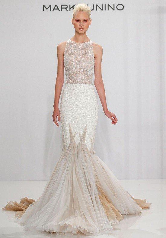 свадебное платье-русалка двухцветное