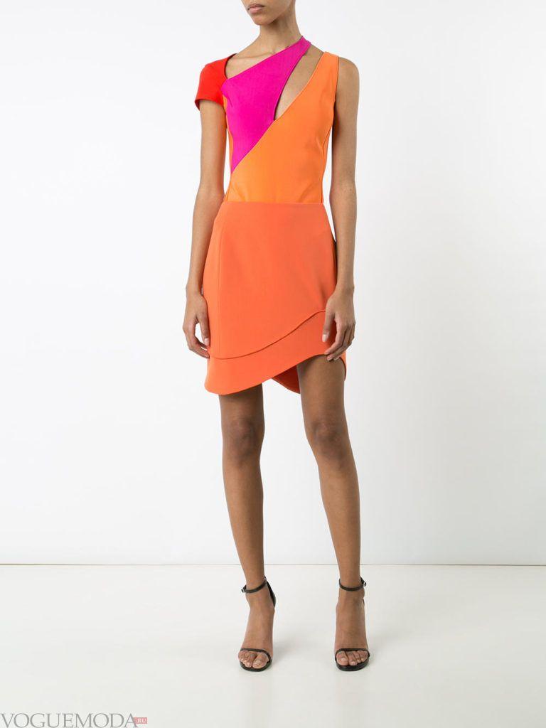оранжевое платье для встречи года крысы разноцветное