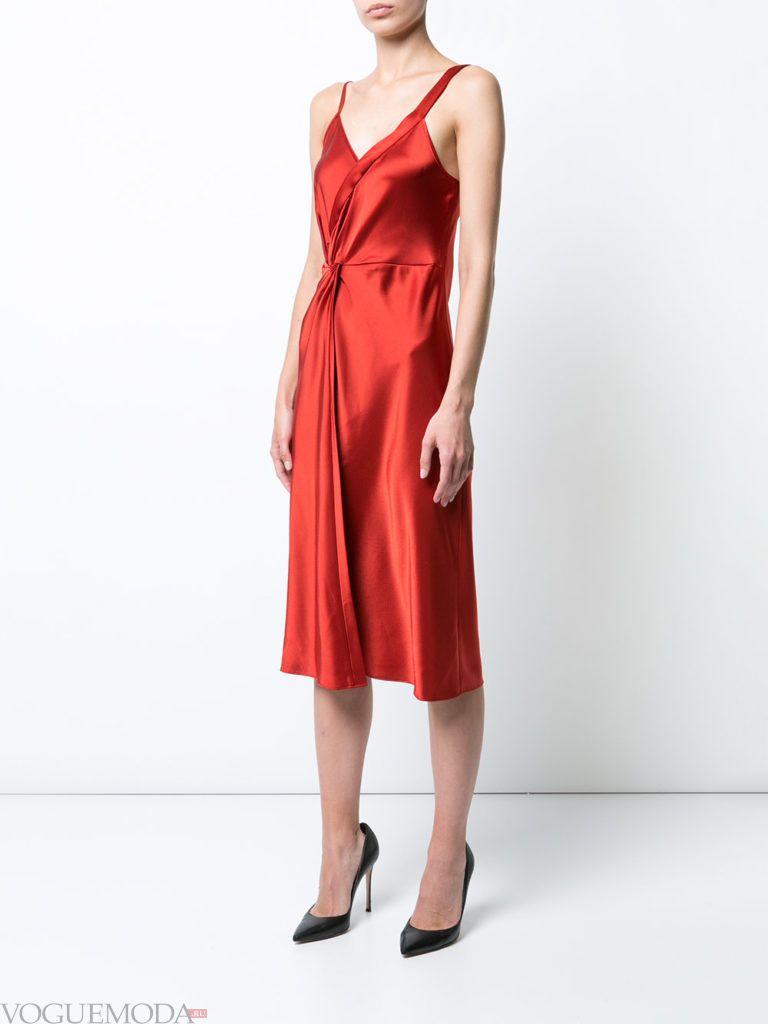 красное платье шелковое для встречи года крысы