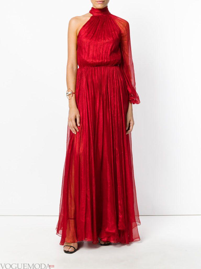 красное платье длинное для встречи года крысы