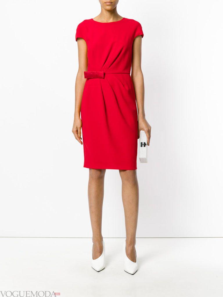 красное платье футляр для встречи года крысы