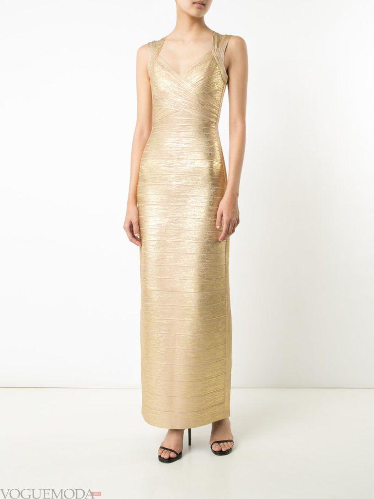 золотое платье длинное для встречи года крысы