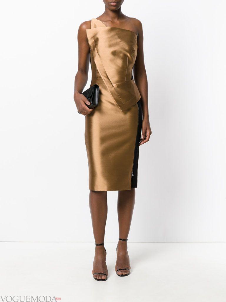 золотое платье футляр для встречи года крысы