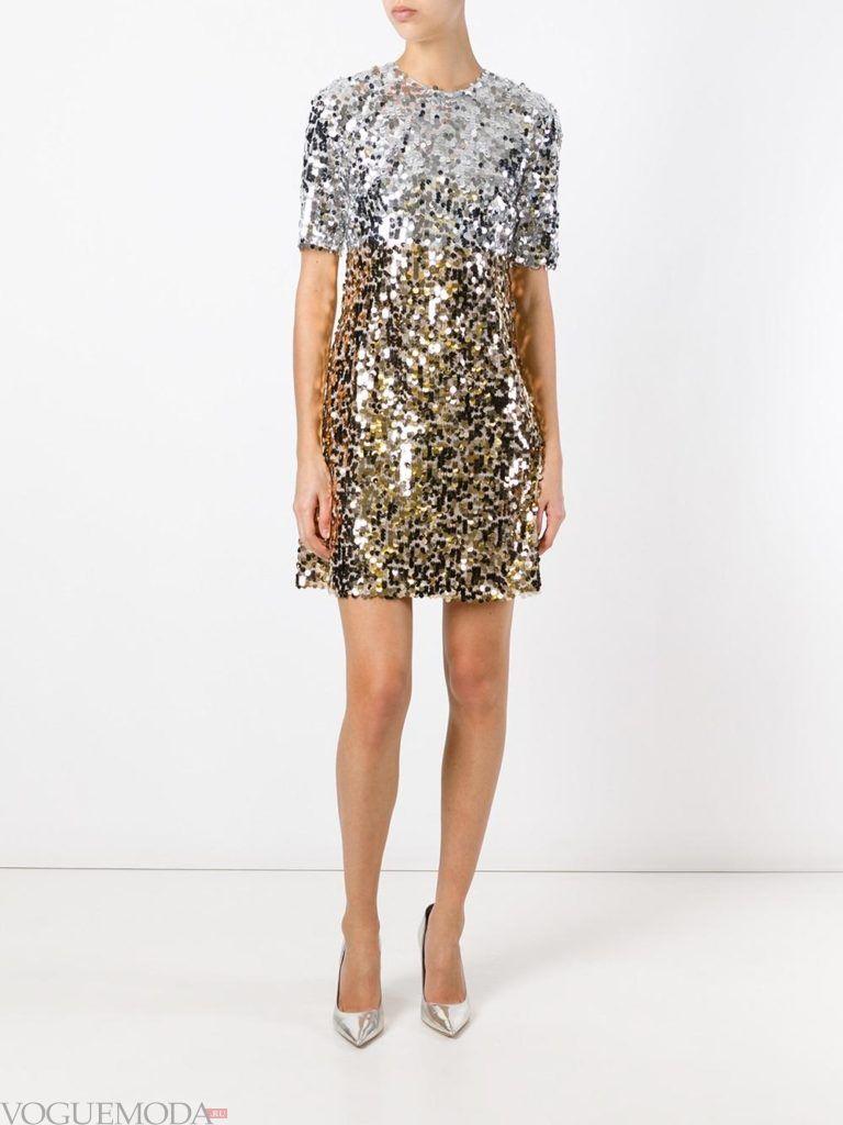 золотое платье с серебристым для встречи года крысы